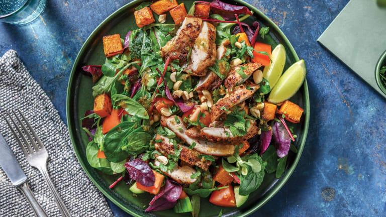 Thai-Style Chicken & Roast Pumpkin Salad