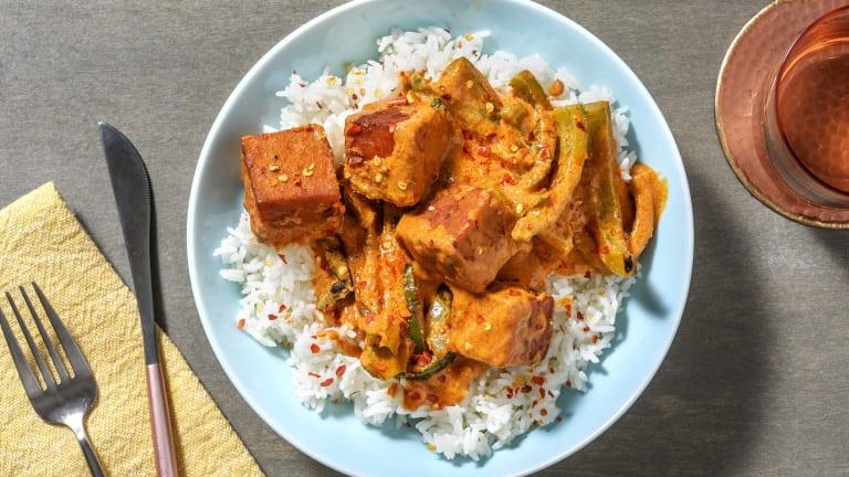Thai Style Crispy Tofu Red Curry