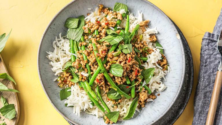 Thai Style Pork Rice Bowl