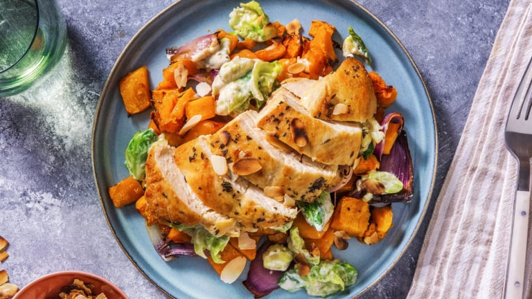 Thyme Chicken and Butternut Squash