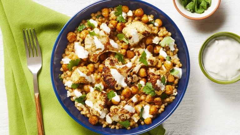 Turkish Chickpea & Cauliflower Bowls