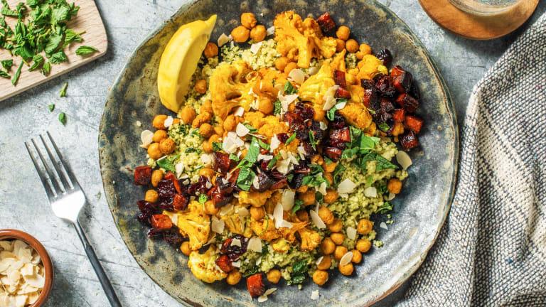 Turmeric Cauliflower and Chorizo Cous-Cous Salad