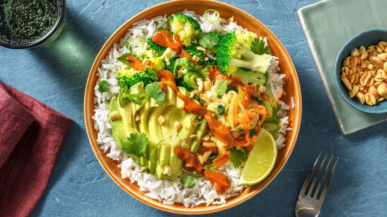 Vegane Bowl nach Thai Art
