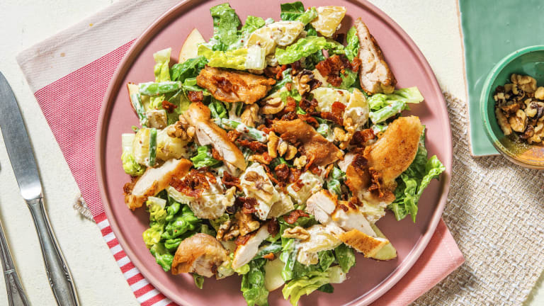 Waldorf Style Salad with Chicken and Bacon