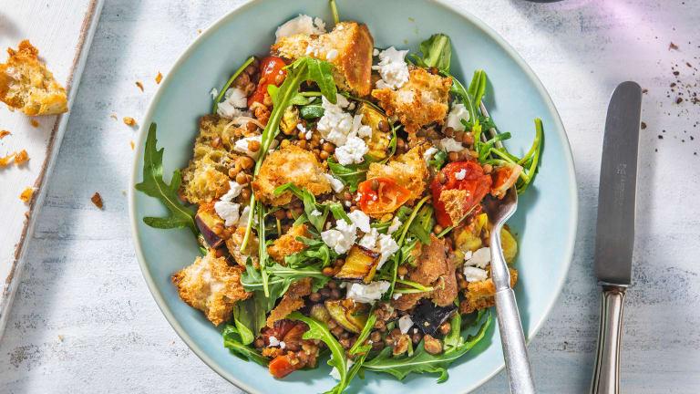 Warm Roasted Tomato and Lentil Salad