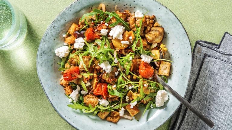 Warm Tomato & Lentil Salad