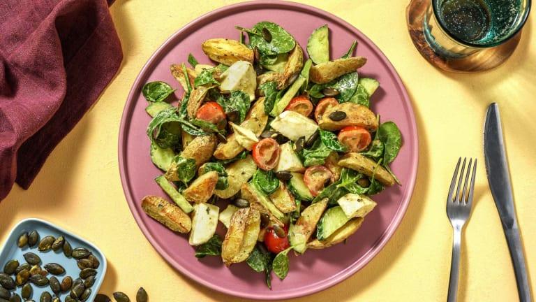 Warmer Kartoffelsalat mit Mozzarella