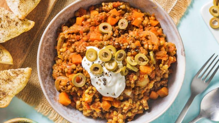 Warming Beef Harira-Style Soup