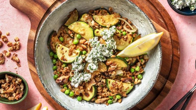Zucchini Farro Bowl