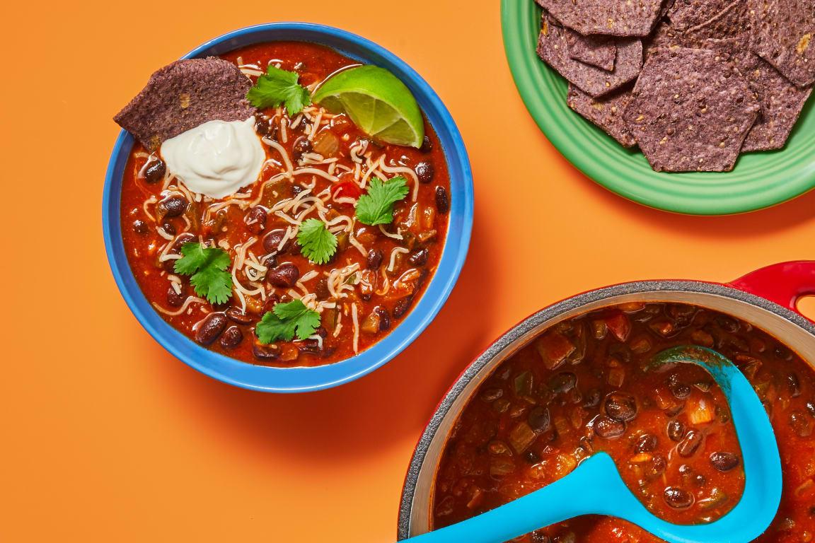 Hearty Black Bean & Poblano Soup