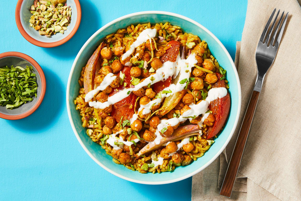 Middle Eastern Chickpea Bowls