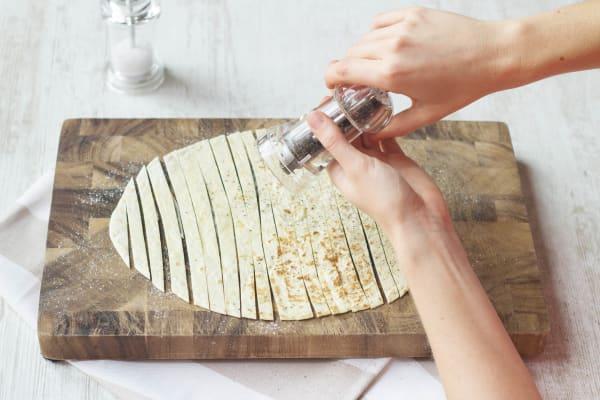 Cut the tortilla