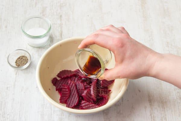 Whisk 1 tablespoon of balsamic vinegar