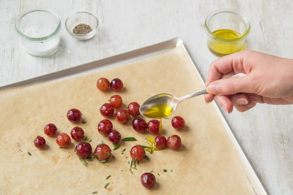 Season with olive oil