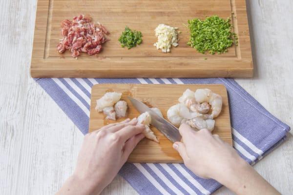 Prepare the veggies and the proscuitto