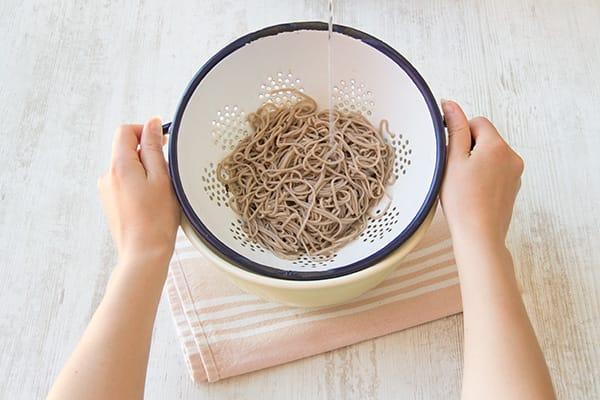 Cook the soba noodles