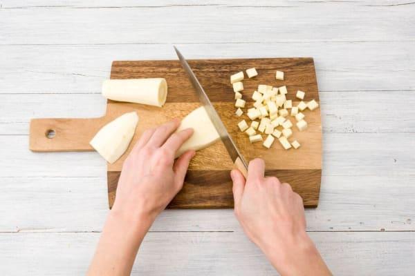cut parsnips