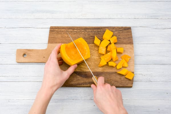 Chop up your butternut squash