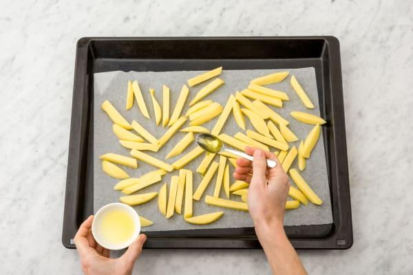Ofen-Pommes vorbereiten