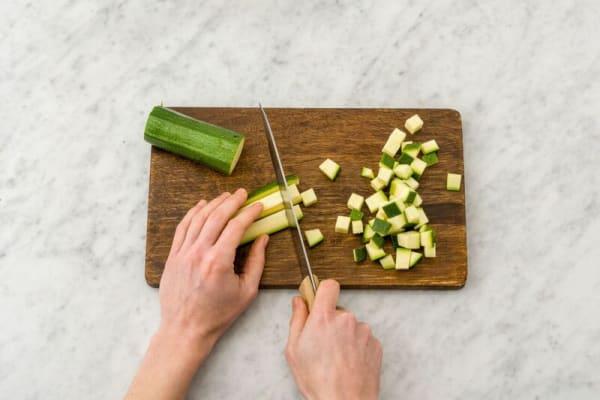 Cube zucchini