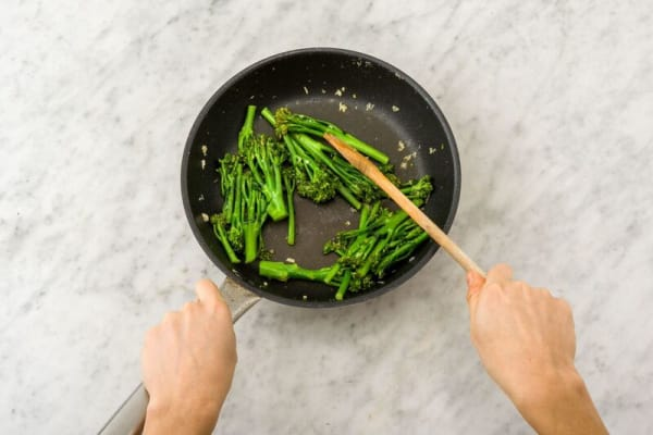 Cook the broccolini