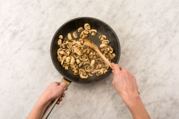 Cook the mushrooms