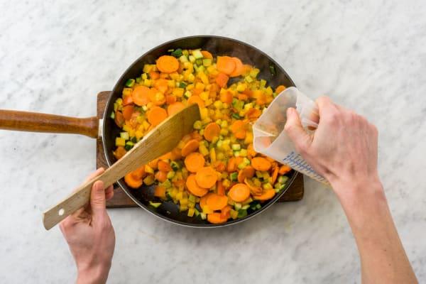 Gemüse garen