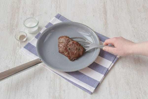 Cook the steak