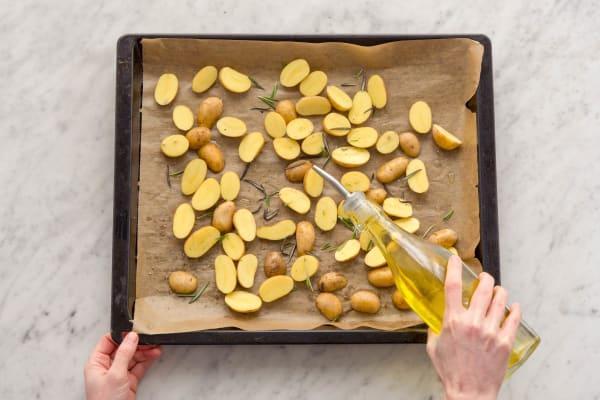 Kartoffeln würzen