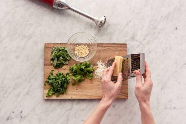 Pesto vorbereiten