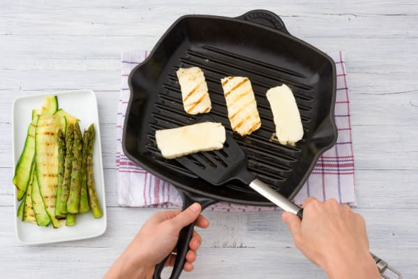 Grill the haloumi