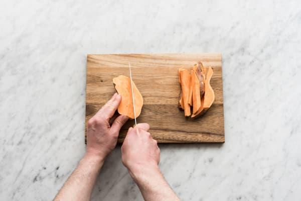 Prepare the sweet potato