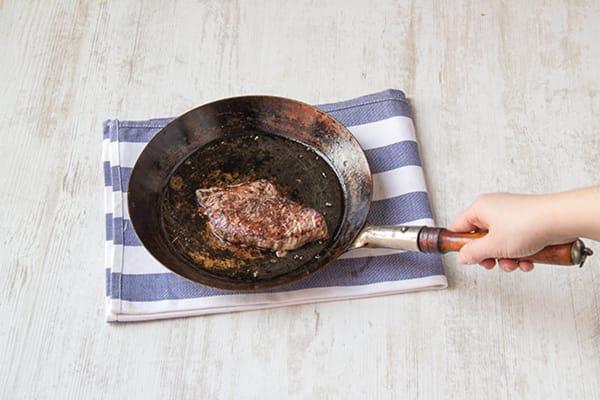 Fry the steak
