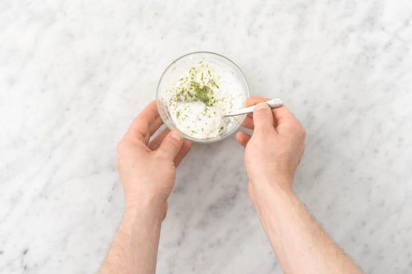 Make the lime crema