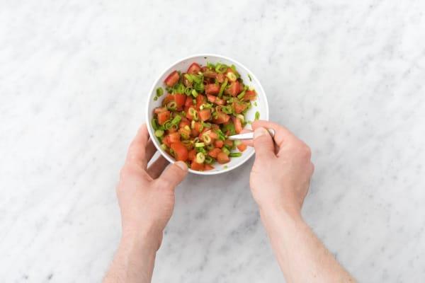 Make the salsa fresca