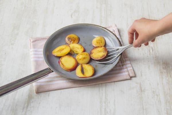 Char the peaches