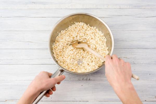 Toast the rice