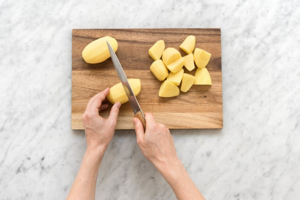 Kartoffeln vierteln
