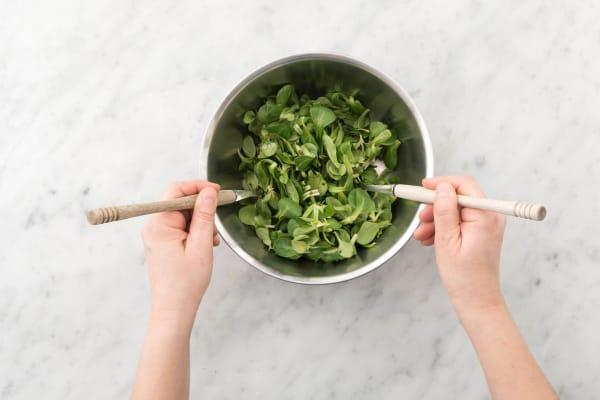 Salade aanmaken
