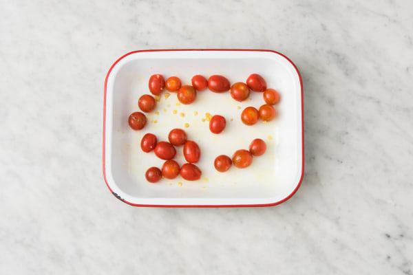 Cherrytomaten in de oven