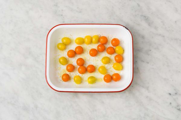 Tomaatjes bakken