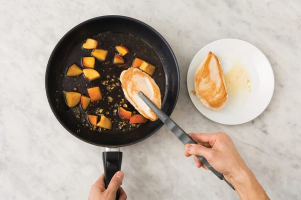 Add the peaches