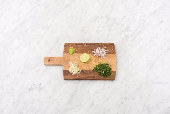 Preheat Oven and Prep Aromatics