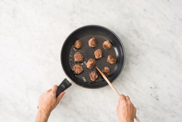 Cook the meatballs