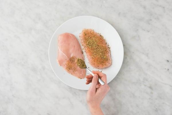 Preheat Broiler and Season Chicken