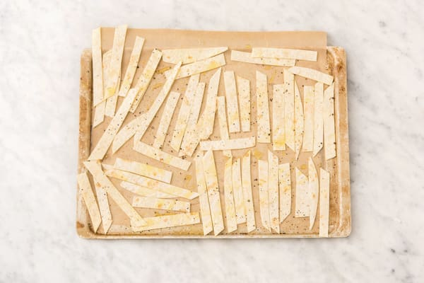 BAKE THE TORTILLA STRIPS