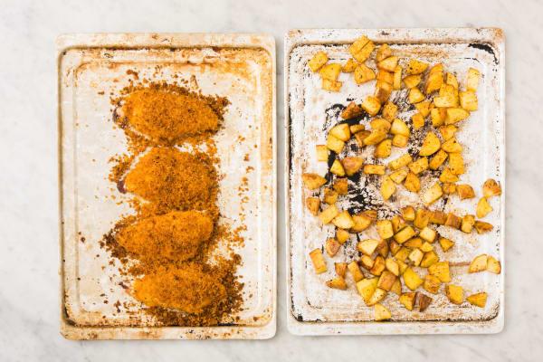 Roast Potatoes and Chicken