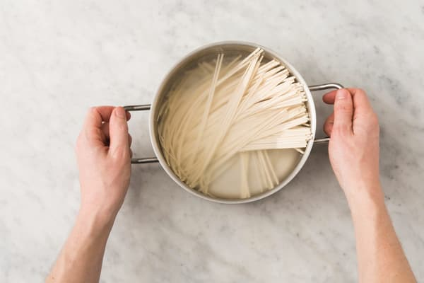 Cook the noodles