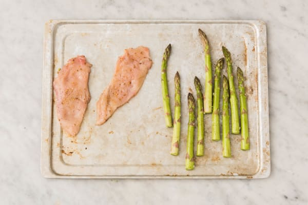Roast Chicken and Asparagus