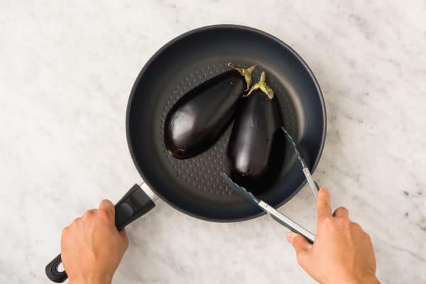 Cuire l'aubergine